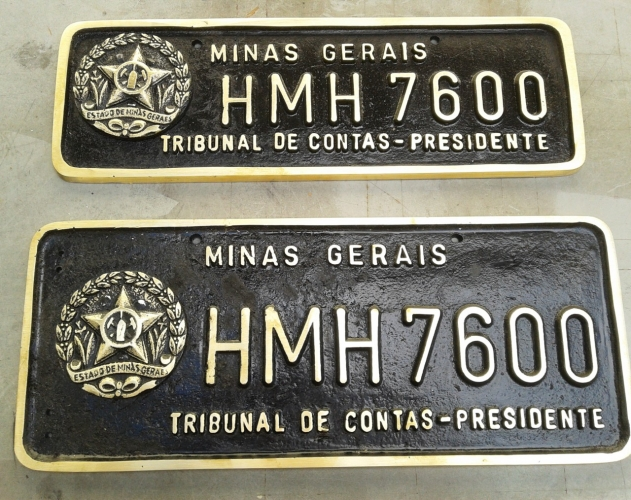 PLACA VE�CULOS OFICIAIS